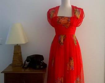 Gorgeous vintage dress, 70 's. size 36/38