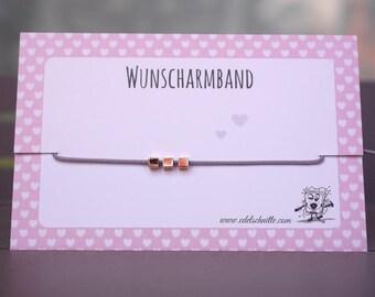 Desire bracelet mini cubes * Rosé gold