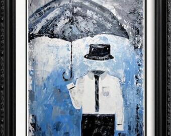 Janier In The Clouds - Original Art By Reknowned Artist Janier