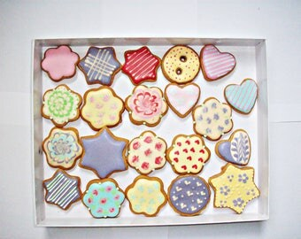 set of decorated cookies, gift cookies