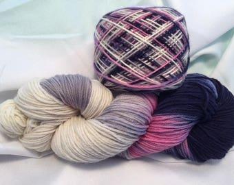Jackie O, DK Weight, Hand Painted, Multi Color, Hand Dyed Yarn, Superwash Merino, Yarn