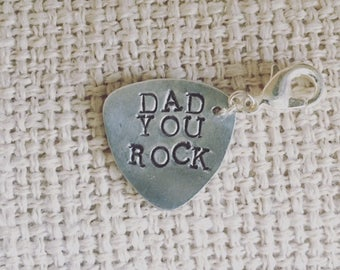 Guitar Pick Metal Stamped for Dad