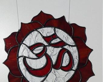 Stained Glass Om Symbol Suncatcher