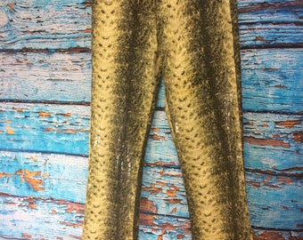 Vintage Sting Ray Green Alligator Pants Size 3/4