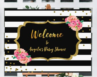 Kate baby shower sign | Welcome sign |  baby shower welcome sign|  sign