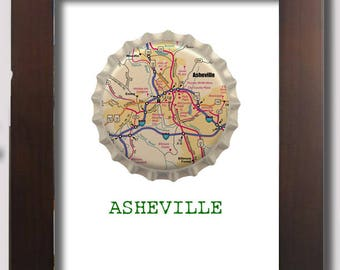 Asheville map etsy beer poster asheville city cap map digital file gumiabroncs Gallery