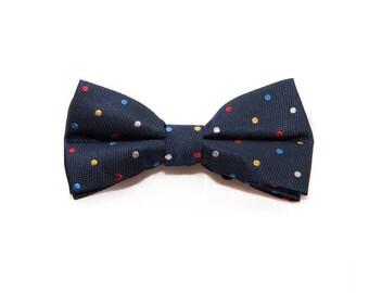 de MORÉ - blue bow tie with colorful dots