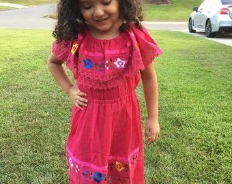 Mexican little pink dress