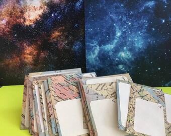 STATIONARY ϟ Map Envelopes - handmade - unique gift - traveler - wanderer - wanderlust