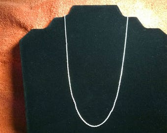Sterling Silver Milor 950 Rope Chain Necklace, Excellent!