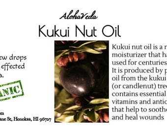 Kukui Nut Oil - 2oz