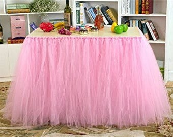 Tutu Table Skirt,tulle table skirt