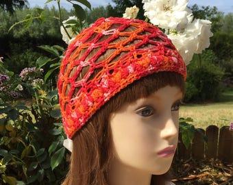Crochet handmade openwork cotton cap