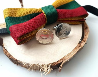 Lithuanian Bow Tie, Lithuanian Flag Bow Tie, Litas Cufflinks, Vytis Cufflinks, Coin Cufflinks, Lithuania, Lithuanian gift, Lithuanian