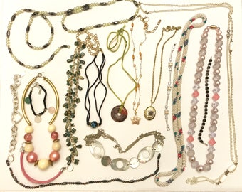 Vintage to Newer Necklace and Bracelet Jewelry Lot