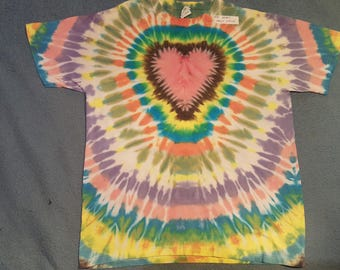 "tie dye t-shirt adult large""my foolish heart"""
