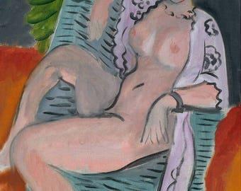 Draped Nude (Henri Matisse) - Premium Giclee Art Print
