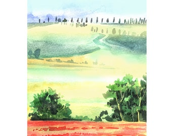 Landscape Watercolour Painting Q23