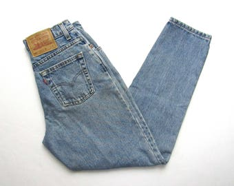 Vintage 1990s LEVI'S 551 Jeans ~ measure 28 x 28 ~ Relaxed Fit / Tapered / High Waisted ~ Mom Jeans ~ size 8 ~ 28 Waist