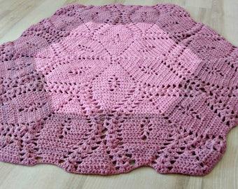 Big Rug,Pink rug,crochet rug,flower,girls bedroom,carpet for kitchen,nursery,bath Mat,rug fitted,carpet,decorative rugs,dog bed,cat bed