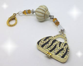 Gold Purse Locket - Cream & Gold