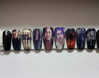 Nancy. The Craft. Press on nails. Fake nails. Custom nails. Horror nails.