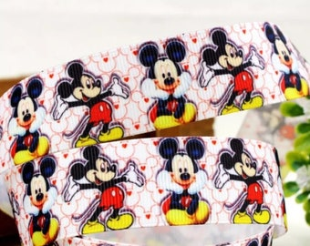 Mickey Mouse 7/8 inch Grosgrain Ribbon