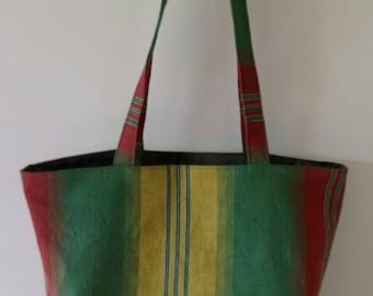 TOTE BAG handmade fabric reversible