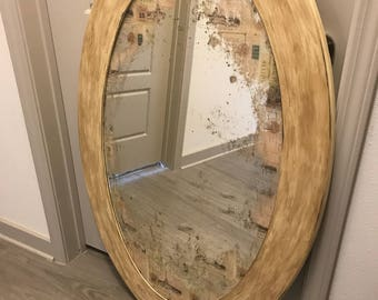 Antiqued french mirror