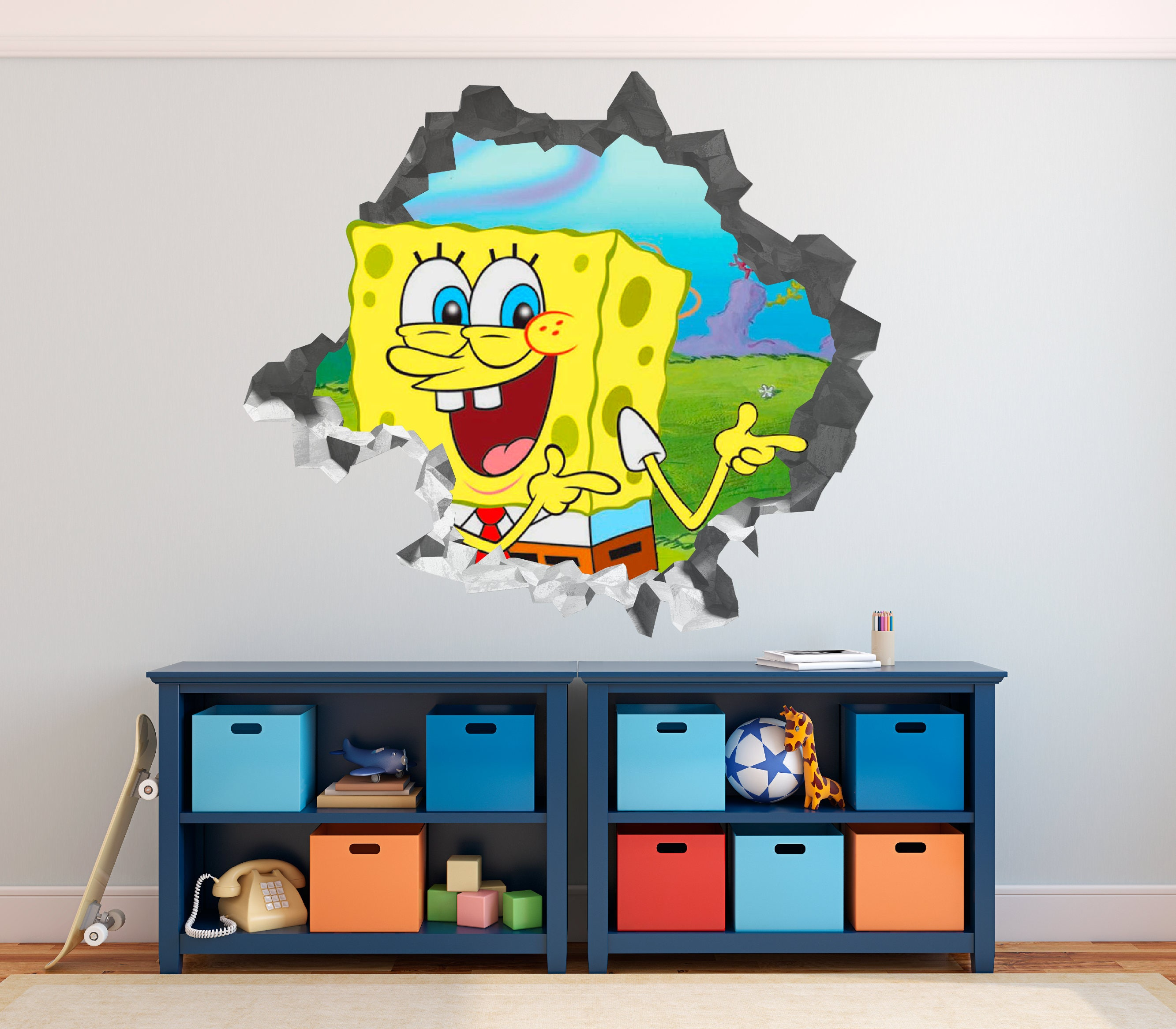 Spongebob Wall Mural Images Home Wall Decoration Ideas - Spongebob room decals