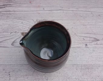 Medium sized ceramic handmade jug