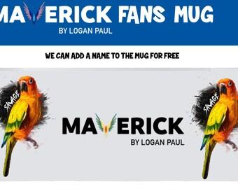 Logan Paul - MAVERICK - SAVAGE  Childrens Fans based Mug,Cup,  Gift LOGANG