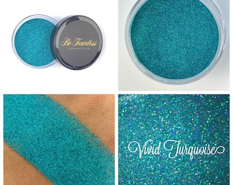 Vivid Turquoise - Cosmetic Glitter, Loose Glitter