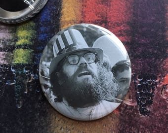 "Allen Ginsberg 2.25"" Pin (One-Of-A-Kind)"