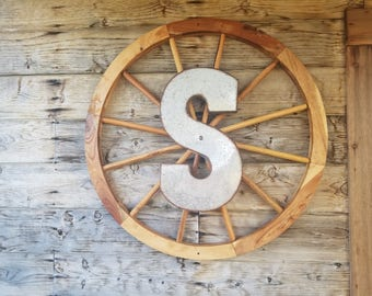 Monogrammed Wagon Wheel
