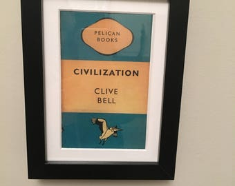 Classic Penguin Book cover print- framed - Civilization