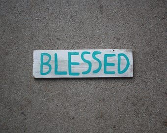 """Wood Sign. """"Blessed"""""""
