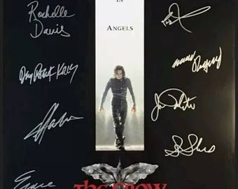 The crow cast signed poster with coa