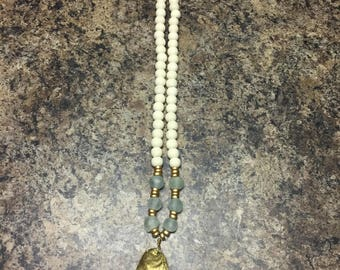 Oyster Shell Necklace- Handmade!