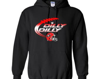 Georgia Bulldogs Dilly Dilly T-Shirt Dilly Dilly Georgia Bulldog Football Shirts for Fans Pullover Hoodie 8 oz