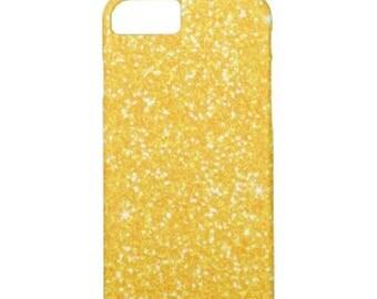 Yellow  glitter iPhone 4
