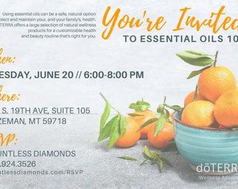 doTERRA Class Invitation - Tangerine