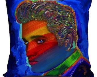 "Pillowcase ""Elvis Rainbow"" by Howie Green"