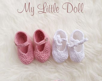 Shoes baby to crochet. Baby crochet boots