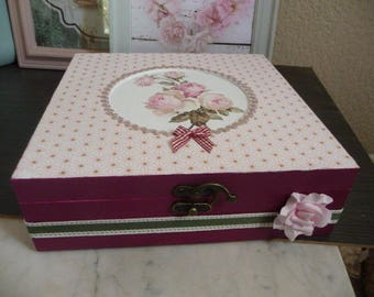 """Jewelry box, sewing notions, photos etc... """"name of the rose"""""""