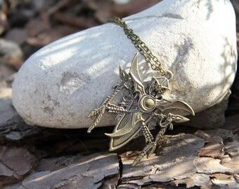 Night Elfs Emblem Necklace/Keychain from World of Warcraft