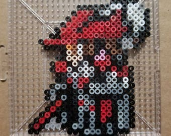 Final Fantasy 14 Red Mage Perler Mini Bead Art