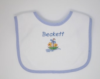 Personalized Embroidered Terry Baby Bib