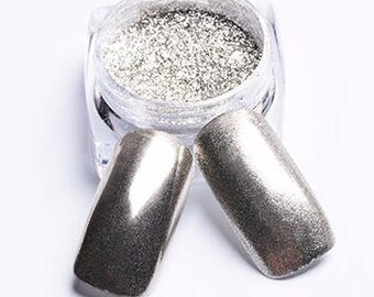 35 micron Holo Silver Chrome Powder - Holographic Mirror Powder