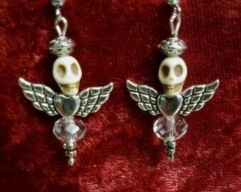 Angel Sugar Skull Earrings